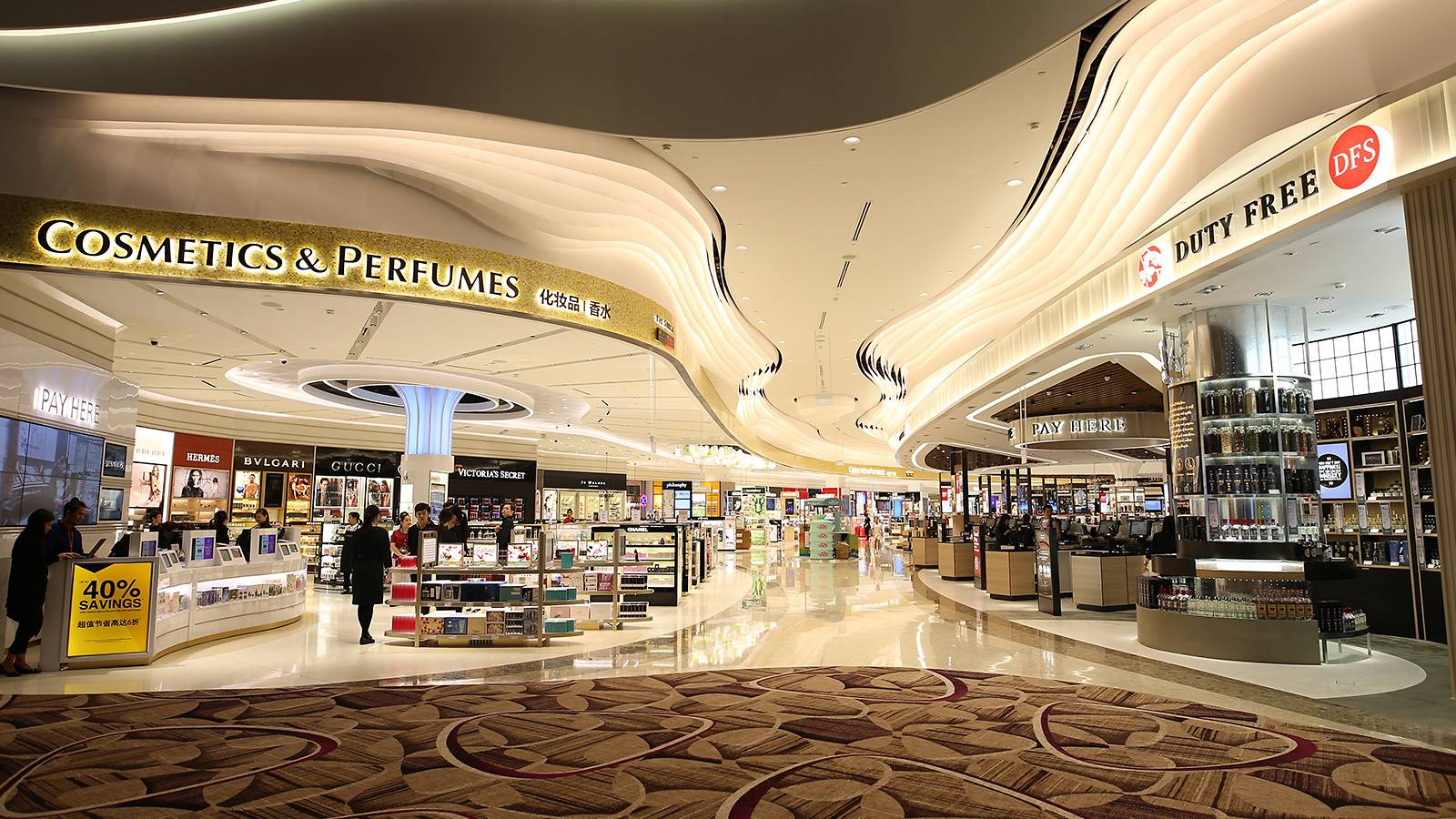 Pick up beauty products at The Shilla Duty Free shop