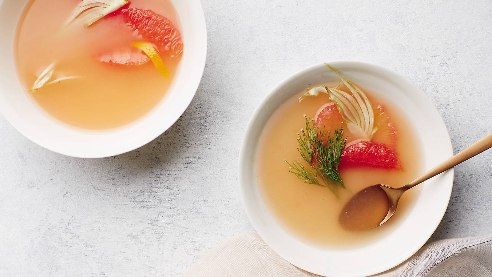 Grapefruit and Fennel Consommé