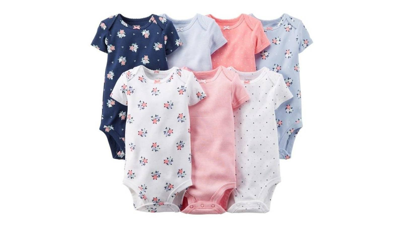 Carter's 7-pack short-sleeve bodysuits (9 months)