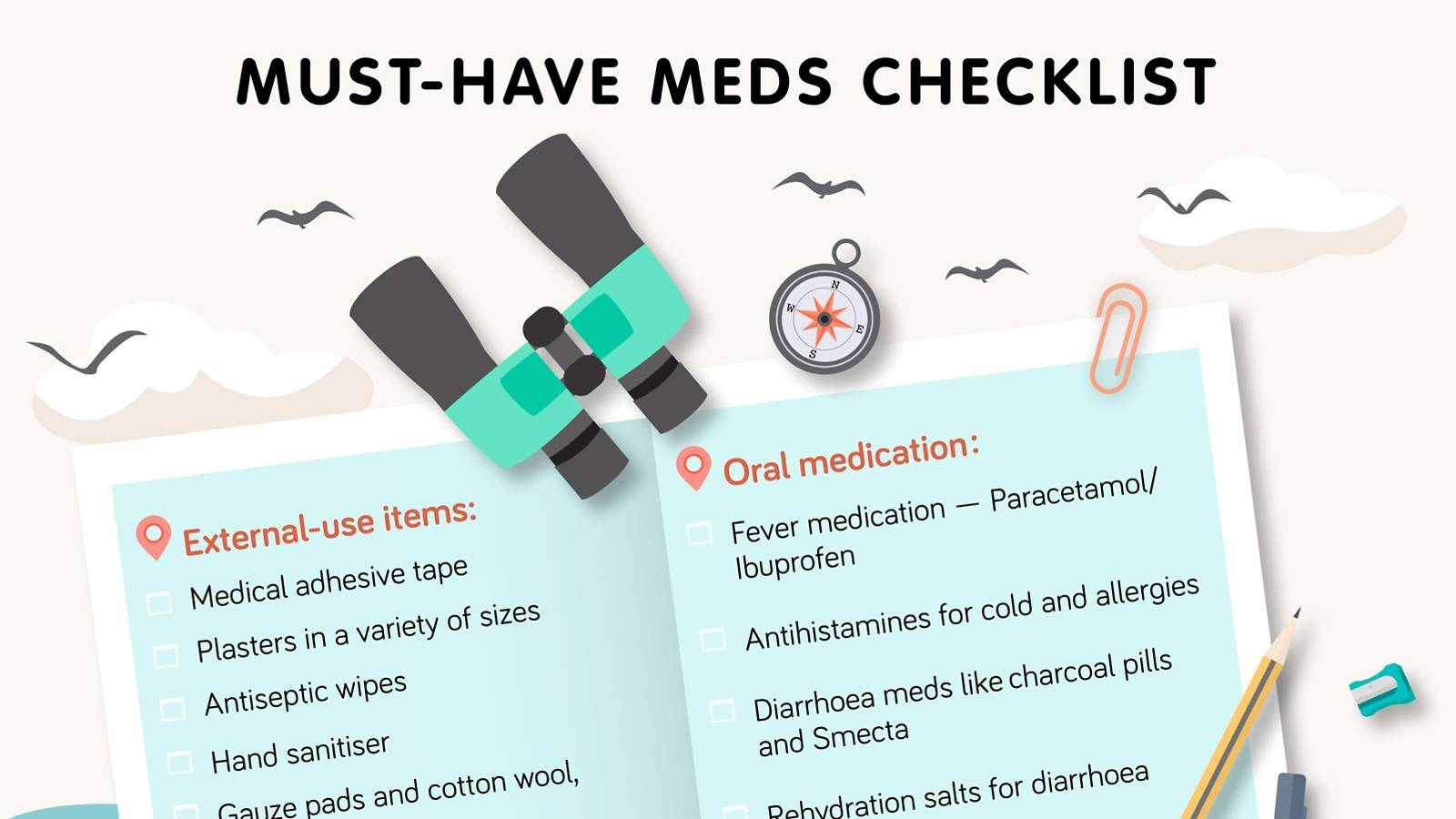 Kids — Travel first aid — Checklist of must-have meds-1b