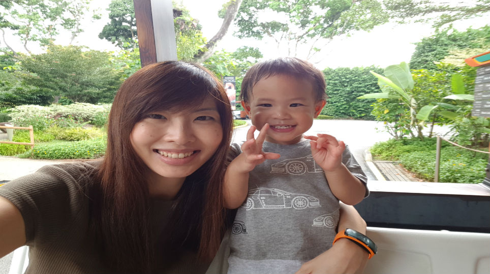 Carleen Ong and son